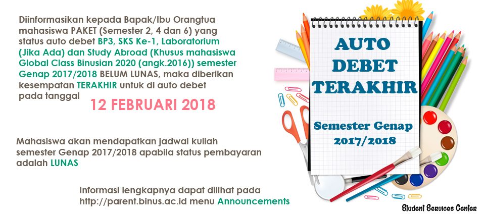 PENGUMUMAN AD BP3 SKS-1 LAB STUDY ABROAD 12 FEBRUARI 2018